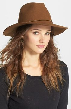 JANESSA LEONE 'SAVOY' HAT  $170 by Leone at Nordstrom          Available Colors: Black ,Whisky Available Sizes: Small,Medium,Large DETAILS A copper-trimmed floppy hat is designed and destined to be an heirloom-quality wardrobe piece. Wool felt. By Janessa Leone; made in the USA.