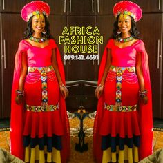 African Print Dresses, African Print Fashion, African Fashion Dresses, African Dress, Zulu Traditional Wedding, South African Traditional Dresses, African Wedding Attire, African Attire, African Weddings