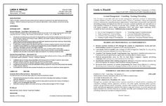 Account Management Resume Example - Before and after professional formatting.