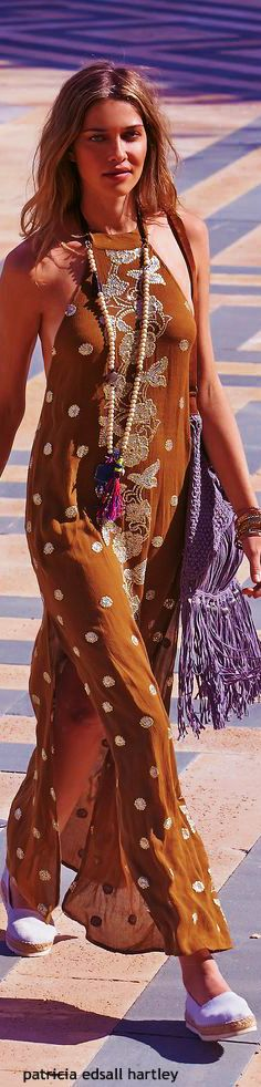 Gypsy boho hippie bohemian bohème dress