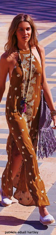 Gypsy boho hippie bohemian bohème dress