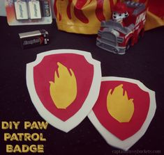 Make Fire Safety Fun! Throw a Party to Help Kids Learn and Make a DIY Paw Patrol Badge, too! Fun Games For Kids, Craft Activities For Kids, Preschool Crafts, Toddler Activities, Paw Patrol Badge, Paw Patrol Toys, Fire Cupcakes, Kids Craft Supplies, Cute Kids Crafts