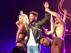 What happens in Vegas, stays in Vegas. Unless of course you post a video of it on Instagram. While out in Sin City for the ACM Awards, taking place on Sunday night (April 2), Chris Lane used his down time to head over to see Britney Spears' residency show, Britney: Piece of Me, at Planet Hollywood.