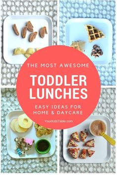 Snag simple toddler lunch ideas for daycare or home with your 1 or 2 year old! Quick, easy, and healthy toddler lunches included in this incredible list! #toddlermeals #toddler #toddlerfoodideas