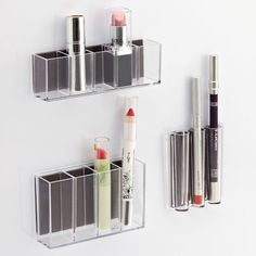 The Container Store MagnaPods. I need these to organize all my makeup! Use magnetic paint on the wall by the sink....