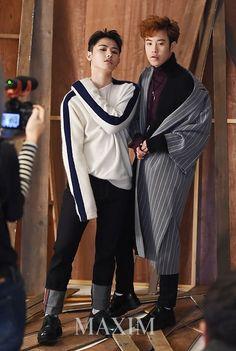 """ [PHOTOS] P.O and U-Kwon for Maxim Femme Korea Magazine, January 2017 Issue """