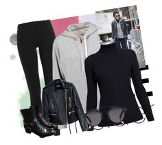 """""""Inspired by Kendall Jenner."""" by xxbebeautifulxx ❤ liked on Polyvore featuring Polo Ralph Lauren, rag & bone, Rumour London, Balmain, Christian Dior, Yves Saint Laurent, GetTheLook, StreetStyle, Leather and ootd"""