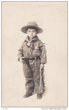 """RP: """"Little Hombre"""" Cowboy Child , 00-10s Item number: 273080955  - Delcampe.com"""