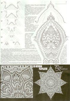"Photo from album ""дуплет on Yandex.Disk - Her Crochet Crochet Stitches Patterns, Crochet Chart, Thread Crochet, Filet Crochet, Crochet Motif, Irish Crochet, Crochet Doilies, Crochet Hammock, Doily Rug"