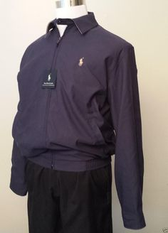 d11e2948 Polo Ralph Lauren Men Jacket Size S Deep Purple Aviator Style 100 Cotton  for sale online | eBay