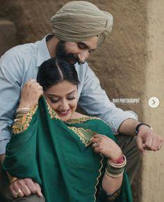 Punjabi Wedding Couple, Indian Wedding Couple Photography, Wedding Couple Photos, Wedding Couple Poses Photography, Couple Photoshoot Poses, Pre Wedding Photoshoot, Couple Posing, Punjabi Couple, Bridal Chura