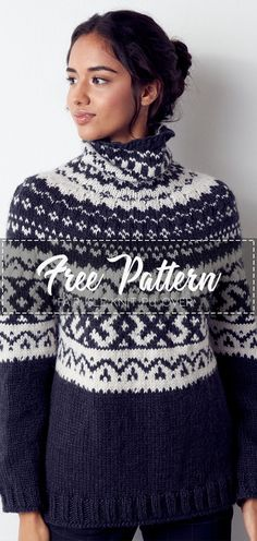 I am so excited to announce the THIS OR THAT Sweater Knit-Along with Marly Bird! You asked for another sweater knit-along to learn how to do colorwork and How To Start Knitting, Knitting For Beginners, Learn To Crochet, Easy Crochet, Knit Crochet, Pattern Cute, Free Pattern, Fair Isle Knitting, Free Knitting