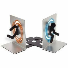 Portal 2 Bookends by Think Geek, http://www.amazon.com/dp/B0077DOFA4/ref=cm_sw_r_pi_dp_9S6csb0XX8RTC