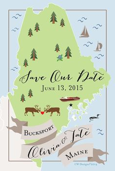 SIMPLE Save the Date • Any City/State/Country 100 by cwdesigns2010 on Etsy www.themapchick.com cws-designs.com