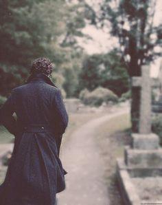 Sherlock visits his grave.