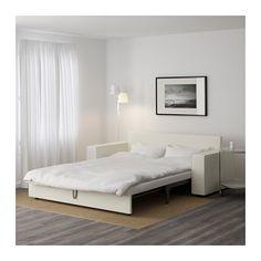 VILASUND Three-seat sofa-bed - Vittaryd light beige, - - IKEA