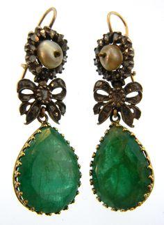 Victorian Emerald Teardrop Earrings