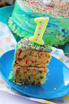 """The perfect cake that screams celebration inside out! It's my Joud's first birthday, i wanted to make a fun cake that serves also as a smash """"one piece of the""""cake for him. …"""