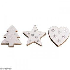 Miniaturas de madera - Estrellas, Árboles - 3,5 x 4 cm - 8 pcs - Fotografía n°1