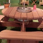 Round Picnic Table on Pinterest | Picnic Tables, Picnic Table Plans ...