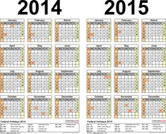 Calendars    For Two Year Calendar  Landscape