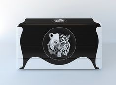 """Awesomely ridiculous """"Cat Ghost"""" dresser by Vladimir Tomilov."""