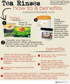 Mens Fashion and Style! Stop shedding, promote hair growth, and get rid of dandruff by rinsing hair with tea