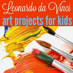 We've been studying the Renaissance this year and it certainly wouldn't be the same without Leonardo da Vinci! The time period has been very fun - especially because TJ loves art projects. There are tons of ideas for learning with Renaissance art. We've collected our favorites to share - her