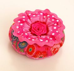 Pincushion with Flower on Top no. 54 by fromhollandwithlove, via Flickr
