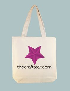 TheCraftStar.com 15x15 Canvas Tote -- larger zipper top size available!