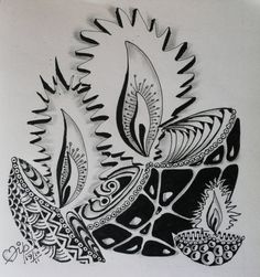 Zentangle... make your doodles make something!