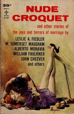'the joys and terrors of marriage'....as if 'nude croquet' wasn't attention-grabbing enough....