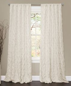 Another great find on #zulily! Ivory Lake Como Curtain Panel Panel by Lush Décor #zulilyfinds