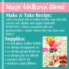 magic unicorn essential oil blend