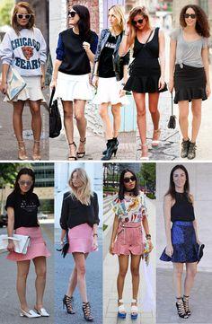 Quem aí anda desejando aquela saia hit de babados? o modelo é tendência confirmada para o verão 2014. Inspire-se!!