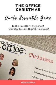 Dec 4, 2020 - If you want to test your knowledge of The Office quote trivia, this is the Christmas Game for you! It works great for family gatherings, Zoom parties and more! Match up the character to their quote from one of the Office's Christmas episdoes. #theoffice #michaelscott #dwightschrute #officetrivia Unique Party Themes, Adult Party Themes, Christmas Quotes, Christmas Items, Birthday Fun, Birthday Party Themes, Office Quotes, Office Christmas, Sweet 16 Parties