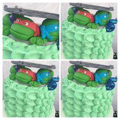 Y el pastel de la fiesta de las tortugas ninja :3