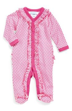 jaxxwear+Ruffle+Pima+Cotton+One-Piece+(Baby+Girls)+available+at+#Nordstrom