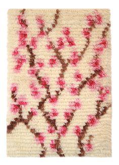 RYIJY Kioto 33 x 45 cm, tarvikepaketti Rya Rug, Art Textile, Carpet Design, Handmade Rugs, Rugs On Carpet, Weaving, Textiles, Knitting, Crochet