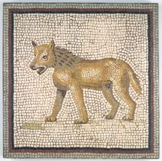 Roman Mosaic - Mosaic of Male Figure in Medallion