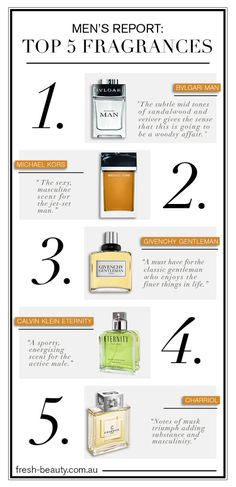 top 5 male scents