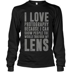 Photography Lovers Unisex Adult Men Women Long Sleeve T-Shirt Sweatshirt