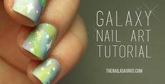 Galaxy Nail Art Tutorial - The Nailasaurus   UK Nail Art Blog