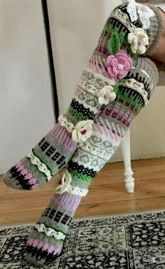 Knitting Socks, Hand Knitting, Knitting Patterns, Crochet Patterns, Knitting Tutorials, Knitting Machine, Crochet Ideas, Stitch Patterns, Thigh High Socks