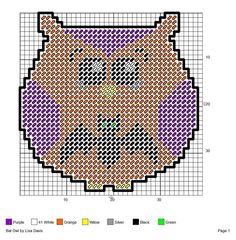 Halloween Bat Plastic Canvas Patterns | Via Michele Carns