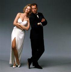 Cybill Shepherd and Bruce Willis in the great 80's TV show MOONLIGHTING.