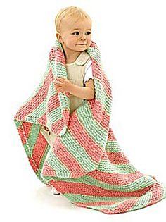 bright stripes knit baby blanket- free pattern