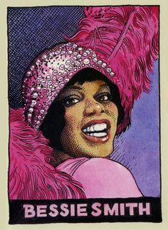 Portraits of legendary blues artists ~ Robert R Crumb ~ Bessie Smith