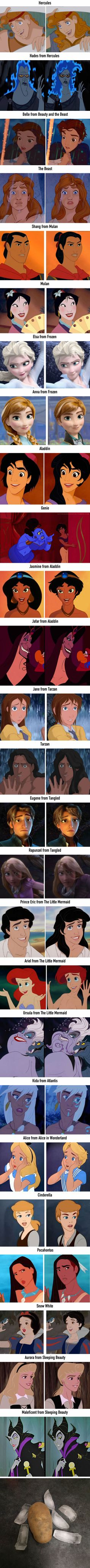 Pixar Drawing 26 Gender-Bending Disney Characters That Actually Look Nice - Disney Pixar, Walt Disney, Disney And Dreamworks, Disney Magic, Disney Art, Disney Stuff, Tarzan Disney, Ursula Disney, Disney Pocahontas