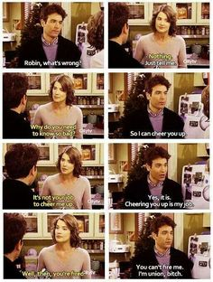 You can't fire me. I'm union, bitch. - Ted - LOL how i met your mother #himym